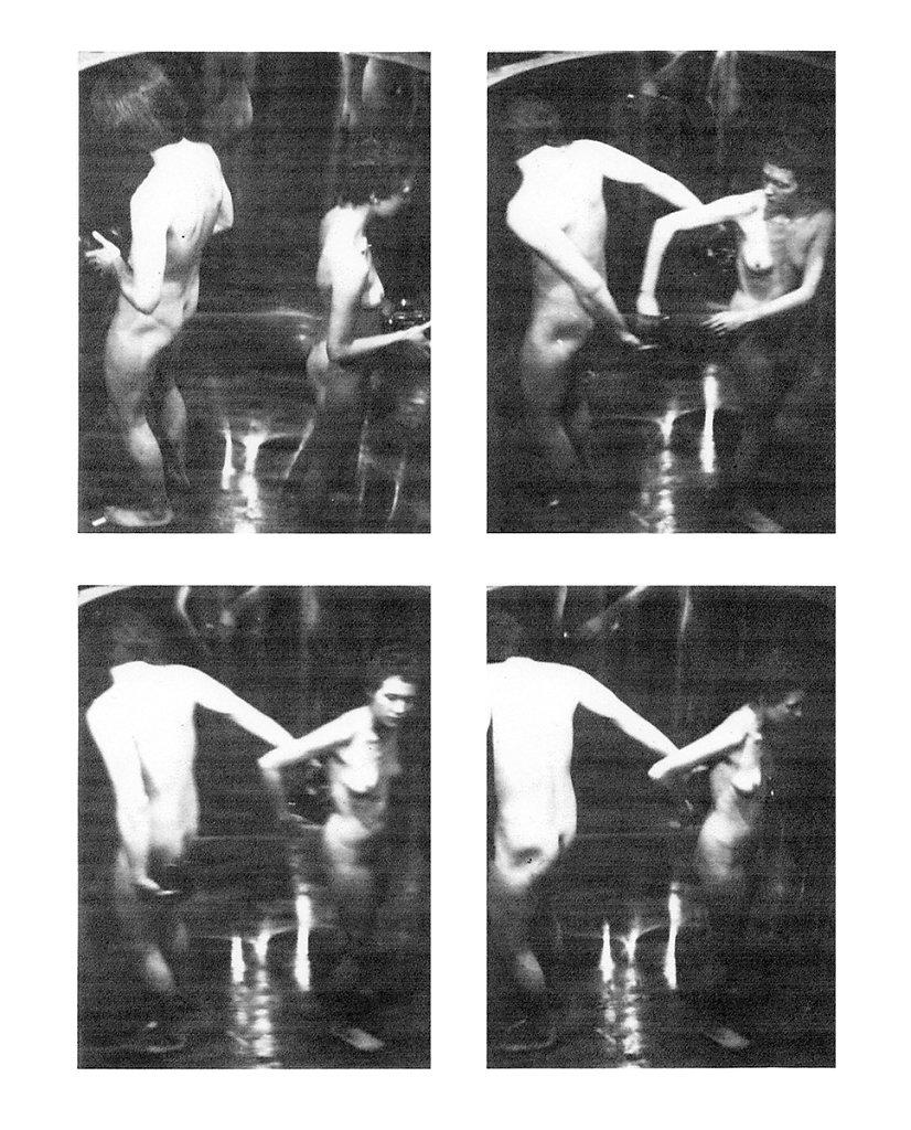 """Dan Graham,  """"Body Press"""", 1972, Ed Bowes & Susan Ensley"""